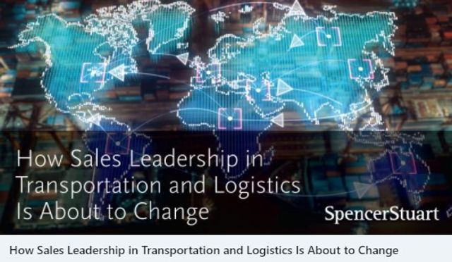 How Sales Leadership in Transportation and Logistics Is About to Change. featured image