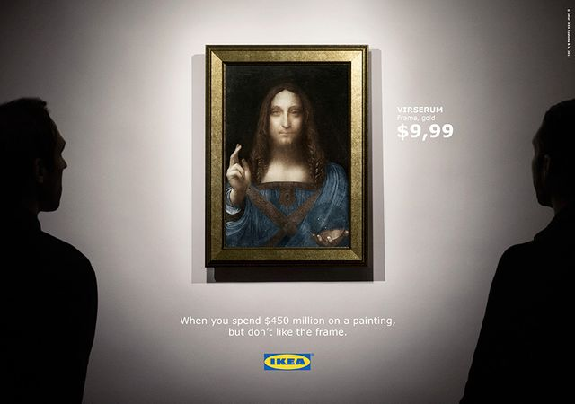 When you spend $450 million on a painting, but don't like the frame... featured image