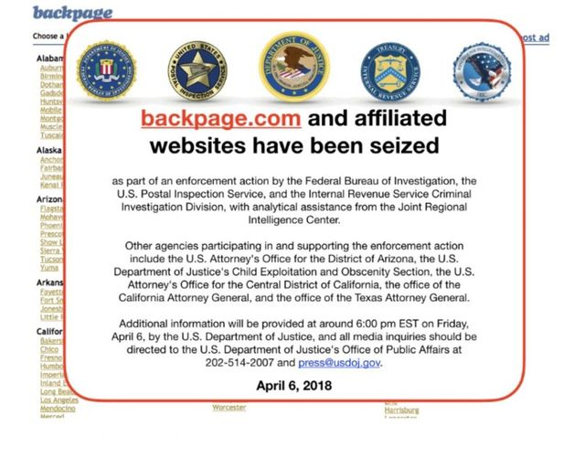 U.S. Government Shuts Down and Seizes Backpage.com featured image