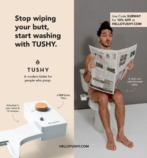 MTA Rejects Ads From Tushy, a Bidet Company featured image