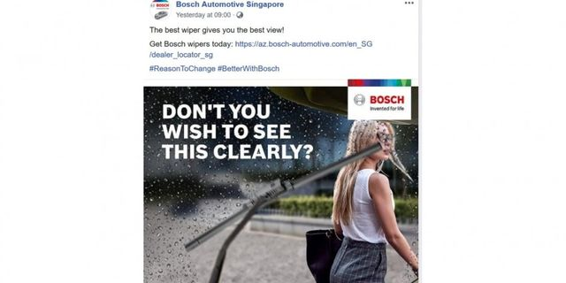Bosch Pulls Social Media Post Over Charges of Sexism featured image