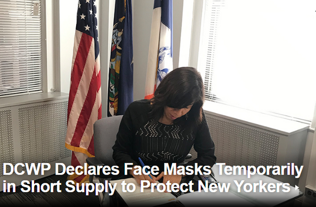NYC Department of Consumer Affairs Issues Price Gouging Declaration featured image