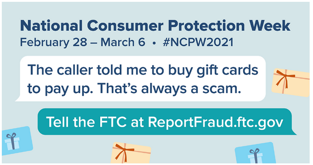 It's National Consumer Protection Week -- Some Thoughts About How You Can Help Friends and Family Avoid Scams featured image