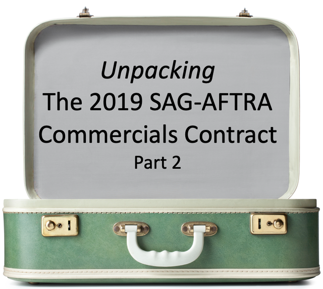 Unpacking the 2019 SAG-AFTRA Commercials Contract (Part 2):  A Rundown of the Major Changes featured image
