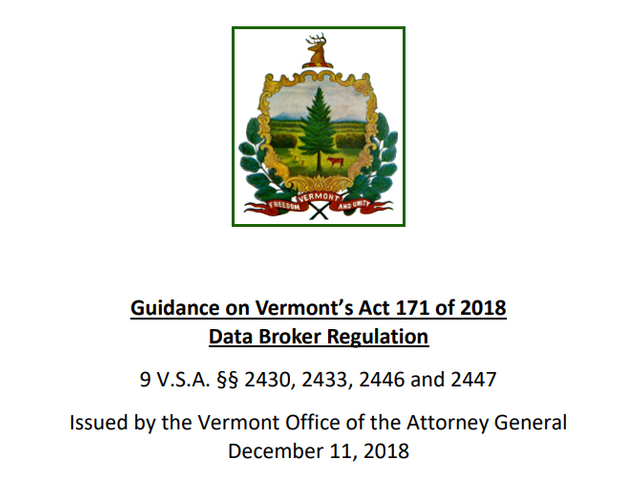 Vermont AG Issues Guidance on New Data Broker Regulation featured image