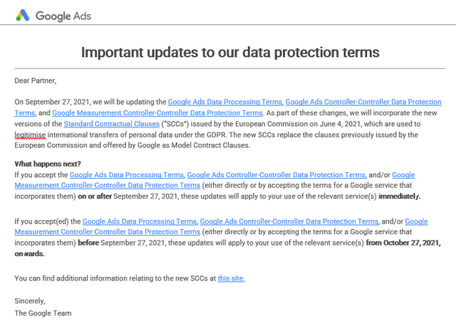 Google and Facebook Update Terms to Address Standard Contractual Clauses featured image