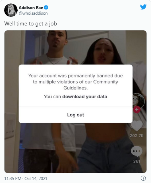Social Media Platform Permanently Bans Influencer Addison Rae featured image