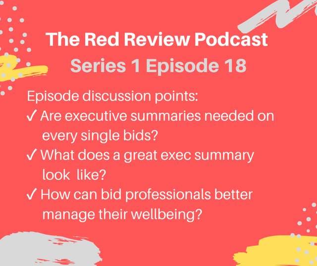 Show notes - Red Review Podcast S01E18 - Executive Summaries - are they worth it? featured image