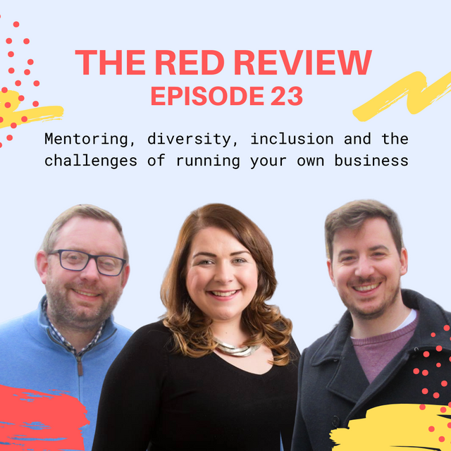 Show notes - Red Review Podcast S01E23 - Mentoring, international bidding and running your own business featured image