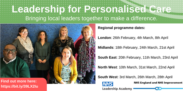 Get involved in the regional Leadership for Personalised Care programme! featured image