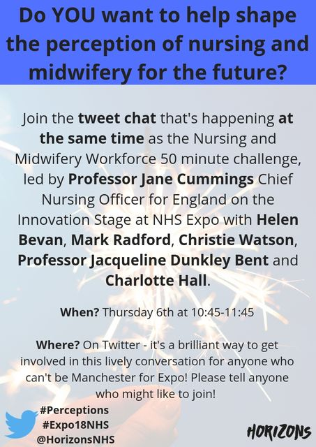 Help transform the perceptions of nursing and midwifery at Expo – via Twitter! featured image