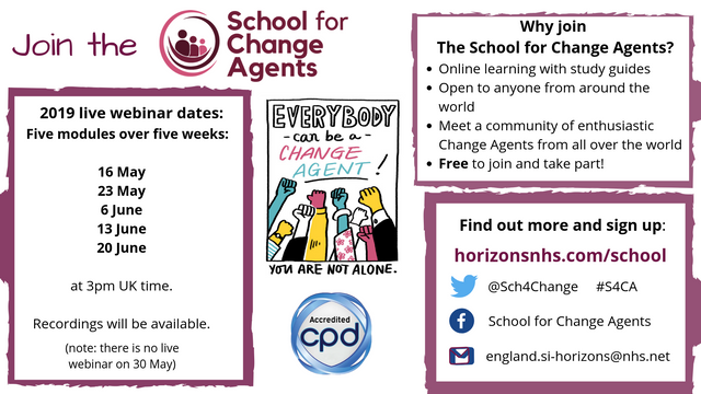 Join The School for Change Agents 2019 featured image