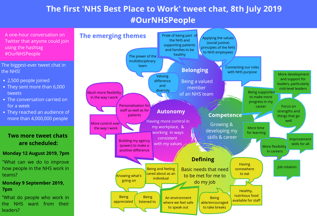 Outputs and Outcomes of the #OurNHSPeople tweet chat, 8th July 2019 featured image