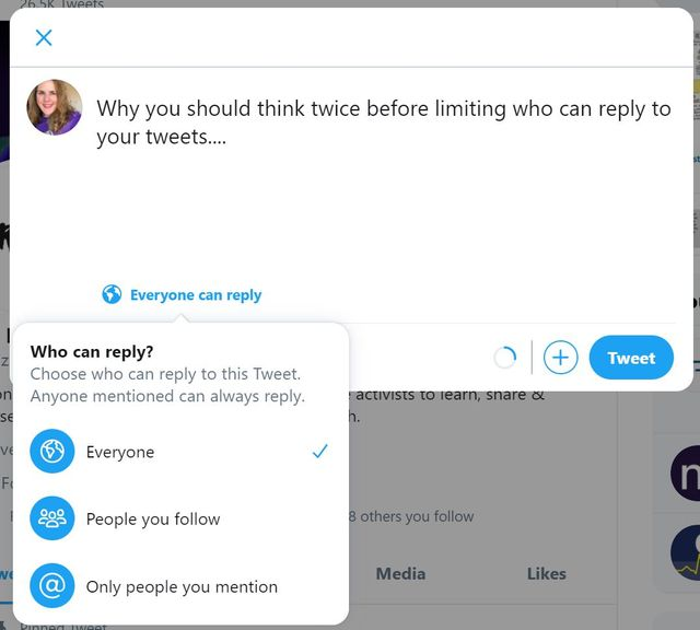 Why You Should Think Twice Before Limiting Who Can Reply to Your Tweets featured image