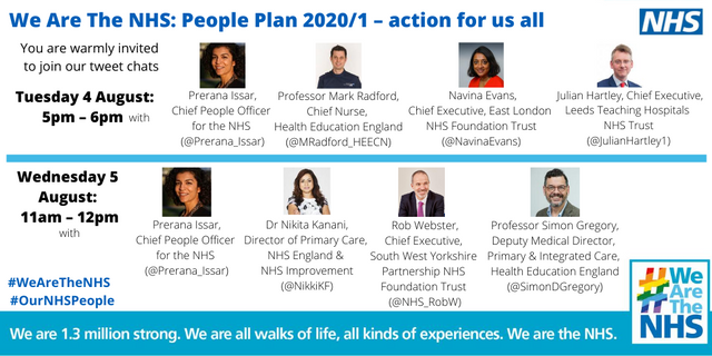 Report from the NHS People Plan tweet chats : 4th and 5th August 2020 featured image
