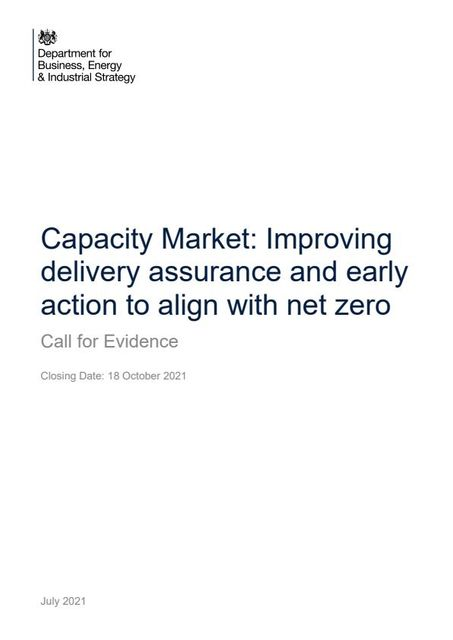 The Capacity Market and Net Zero: BEIS call for evidence featured image