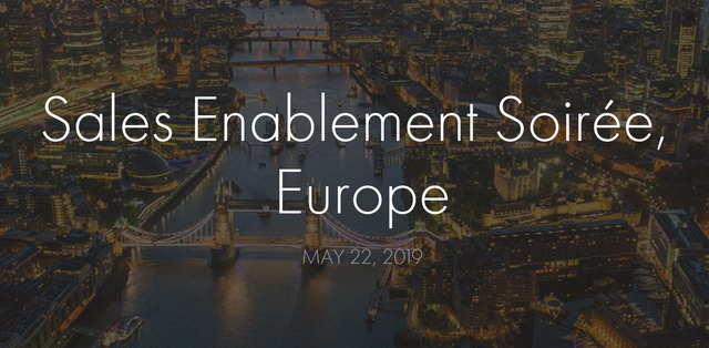 The Sales Enablement Soirée, May 22nd, 2019 featured image