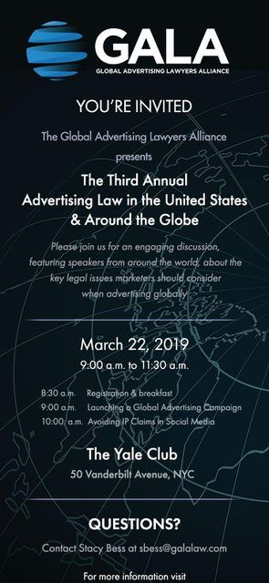 Third Annual Advertising Law Seminar in NY featured image