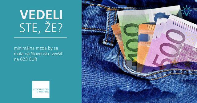 Vedeli ste, že minimálna mzda by sa mala zvýšiť na 623 EUR? featured image