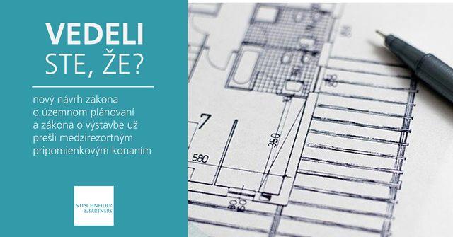 Vedeli ste, že nový návrh zákona o územnom plánovaní a zákona o výstavbe už prešli medzirezortným pripomienkovým konaním? featured image