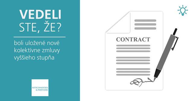 Vedeli ste, že boli uložené nové kolektívne zmluvy vyššieho stupňa? featured image