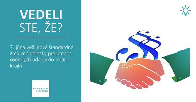 Vedeli ste, že 7. júna vyšli nové štandardné zmluvné doložky pre prenos osobných údajov do tretích krajín? featured image