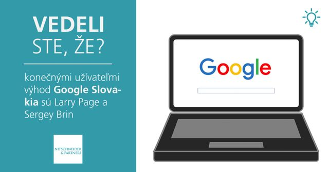 Vedeli ste, že konečnými užívateľmi výhod Google Slovakia sú Larry Page a Sergey Brin? featured image