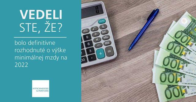 Vedeli ste, že bolo definitívne rozhodnuté o výške minimálnej mzdy na 2022? featured image