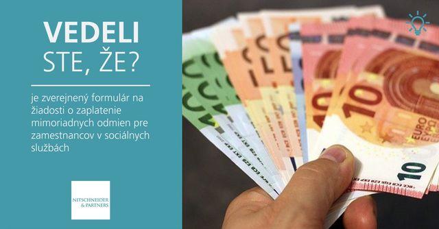 Vedeli ste, že je zverejnený formulár na žiadosti o zaplatenie mimoriadnych odmien pre zamestnancov v sociálnych službách? featured image