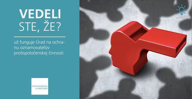 Vedeli ste, že už funguje Úrad na ochranu oznamovateľov protispoločenskej činnosti? featured image