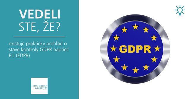 Vedeli ste, že existuje praktický prehľad o stave kontroly GDPR naprieč EÚ? (EDPB) featured image