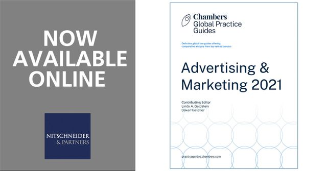Chambers Global Practice Guide - Advertising & Marketing 2021 featured image