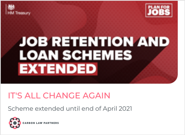 Furlough extended until the end of April 2021 featured image