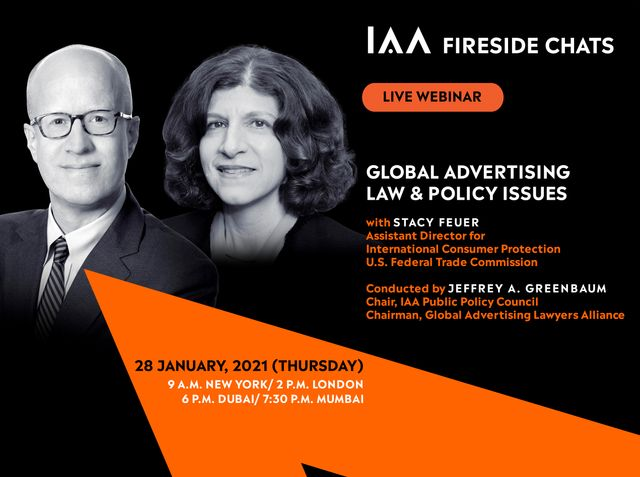 """You're Invited:  """"Global Advertising Law & Policy Issues -- Fireside Chat with FTC's Stacy Feuer"""" featured image"""