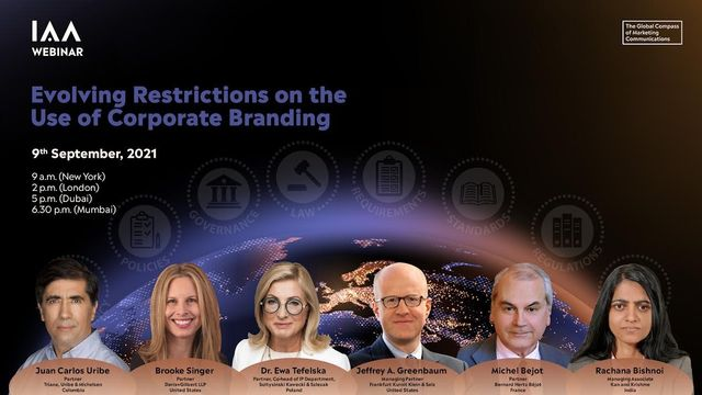 """You're Invited:  """"Evolving Restrictions on the Use of Corporate Branding"""" featured image"""