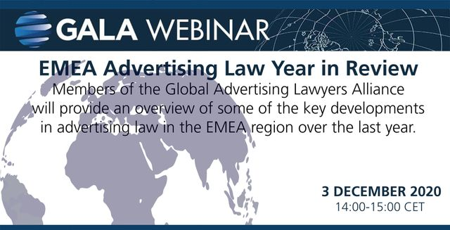 GALA Webinar: EMEA Advertising Law Year in Review featured image