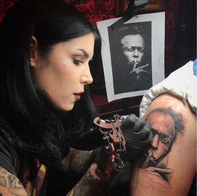 Celebrity tattoo artist Kat Von D sued for inking Miles Davis design? Tats crazy! featured image