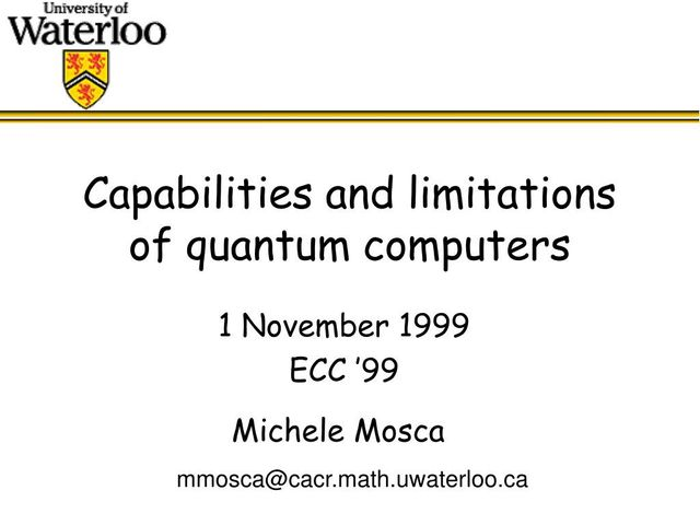 Quantum Computing insight from Michele Mosca featured image