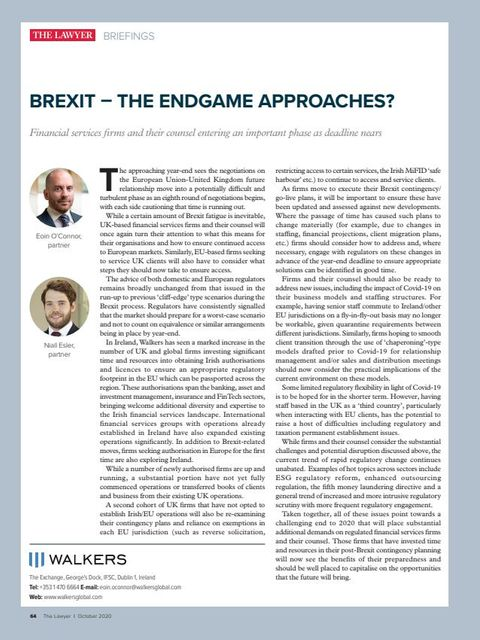 Brexit - The Endgame Approaches featured image