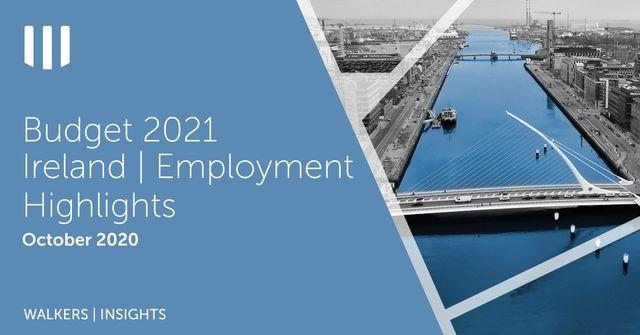 Budget 2021 - Ireland | Employment Highlights featured image