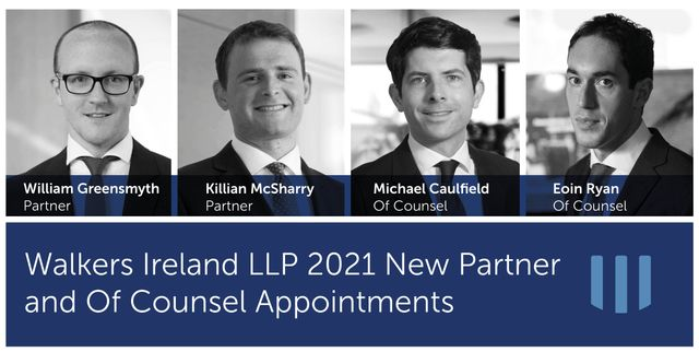 Walkers Ireland LLP Celebrates New 2021 Senior Lawyer Promotions Across Four Practice Areas featured image