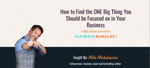 How to Find the ONE Big Thing You Should be Focused on in Your Business featured image