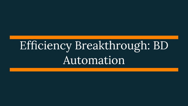 Efficiency Breakthrough: BD Automation featured image