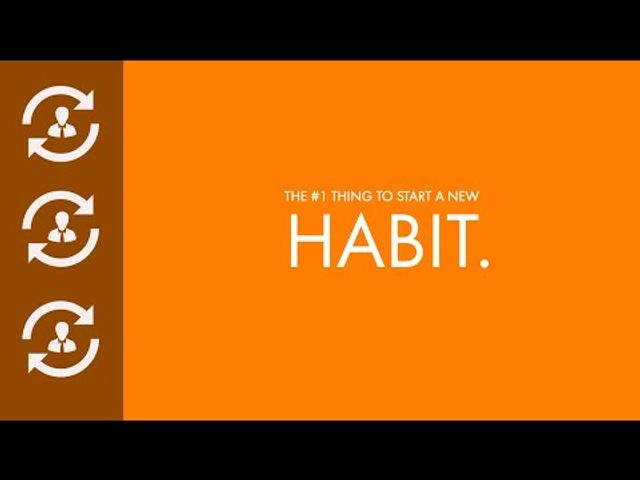 The #1 one thing to start a new habit featured image