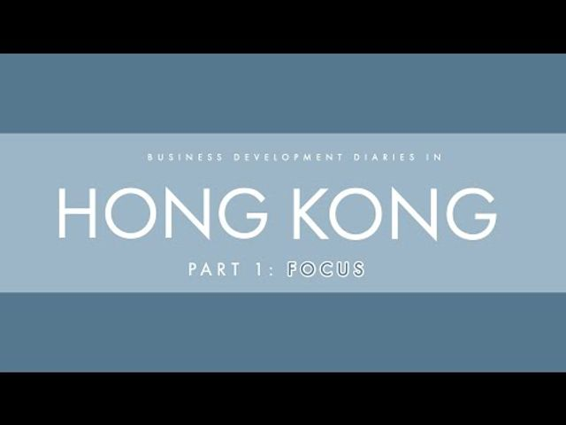 BD Diaries in Hong Kong, Part 1: Focus featured image