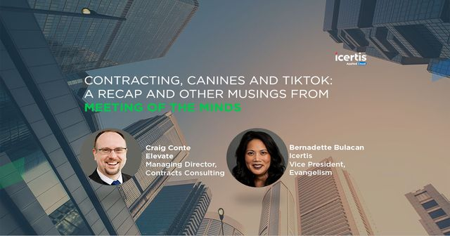 Contracting, Canines, and TikTok: A Recap and Other Musings from the Meeting of the Minds. featured image