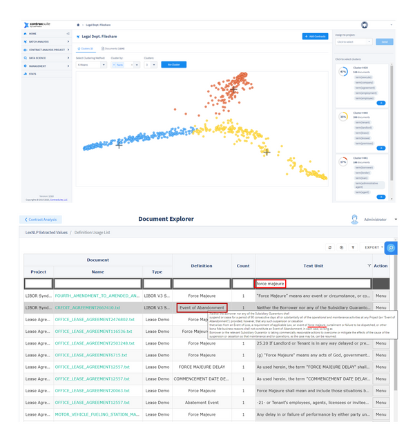 ContraxSuite's Document Explorer UI: Supporting COVID-19 Contract Analysis featured image