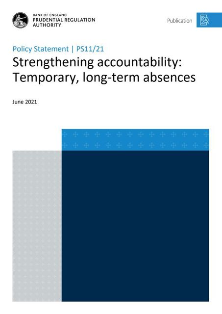 PRA publishes policy statement on temporary, long-term absences under SMCR featured image