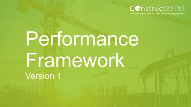 The Construction Leadership Council publishes Construct Zero - Performance Framework featured image