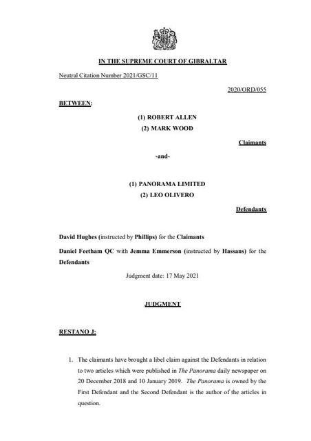 The right to trial by jury in defamation cases in Gibraltar featured image